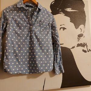 TOMMY HILFIGER polka dot chambray shirt